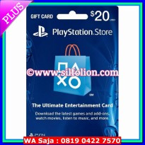 [Terbatas] PSN Card US $20 PS4 PS3 PS Vita