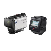 SONY HDR-AS300R Camcorder with Live View Remote - White