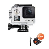 Weekend Deal - Brica Alpha Plus Silver Action Cam + Tongsis + Small Bag