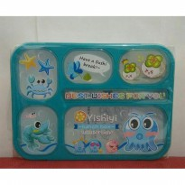 Lunch box Leakproof Yooyee Gambar Biru