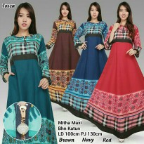 Dress maxy payung panjang wanita jumbo long dress Candice