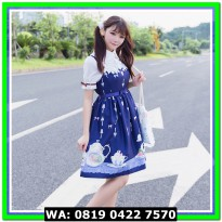 (Mini Dress) COSTUME LOLITA 14 DARK BLUE