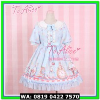 (Mini Dress) COSTUME LOLITA 16 ALICE LIGHT BLUE