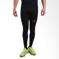 Tiento Baselayer Compression Celana Olahraga Tight Legging Long Pants Black Red Original
