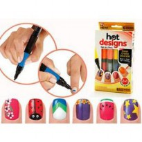 6 Color Starter Kit Hot Design Nail Art Basic Kit - Red Blue Green Black White & Pink Salon Polish Pen Brush As Seen on Tv