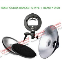 Paket Beautydish 42cm dan Godox S-type Bracket