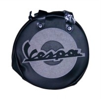 Vespa Wheel Shape Bag - Black
