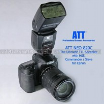 Speedlite ATT Neo-820c TTL-HSS for Canon (Flash Canon)