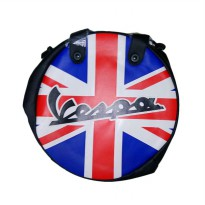 Vespa Union Jack Wheel Shape Bag