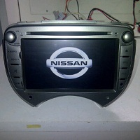 TV MOBIL DOUBLE DIN OEM SPECIAL FOR NISSAN MARCH (Built In GPS)