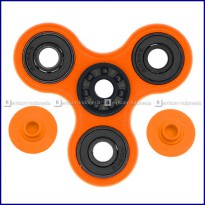 Fidget Spinner Hybrid Black Ceramic / Keramik Hitam Premium - Orange