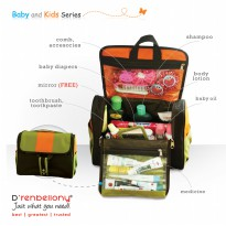 [Benlies Choice]★Toiletries Bag Organizer for Kids (TBOK)★Drenbellony★For Kids/3Colors/Mommy