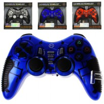 Gamepad Stick Wireless 2.4G N1-W320 6 in 1 Turbo PC bisa untuk PS2 PS3