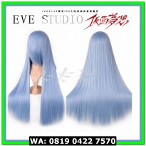 (Kaos Kaki) WIG EVESTUDIO BASE 80CM LURUS LIGHT BLUE
