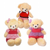 Istana Kado Boneka Beruang Teddy Bear Boy & Girl Stripe Pattern 20'