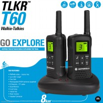 Motorola TLKR T60 Walkie Talkie Up To 8km PMR CHANNEL - Walky Talky