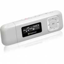 Transcend Mp3 Player 8Gb Mp 330 - White Putih Bentuk Usb Bisa Fm Radio HargaPrommo01