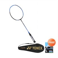 YONEX VOLTRIC FLASH BOOST BLACK/BLUE (BFRVTFBZZZZZ) [Paket Bundling Senar BG 66+cover]