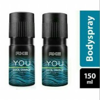 AXE Deodorant Bodyspray You Cool Charge 150 ml Twin Pack
