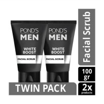 POND'S Men White Boost Face Scrub 100 gr Twin Pack