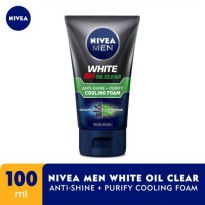 NIVEA Men White Oil Clear Anti-Shine + Purify Cooling Foam 100 ml