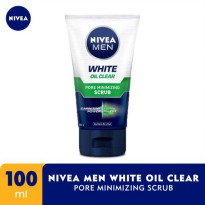 NIVEA Men White Oil Clear Pore Minimizing Scrub 100ml