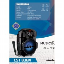 (Termurah) Speaker Simbadda CST 836N Radio, Bluetooth  USB - Original