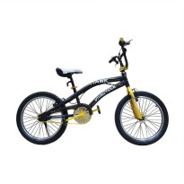 Vivacycle Hawk Sepeda BMX - Black Yellow [20 Inch] FLY06