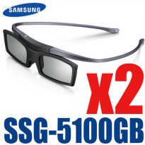[globalbuy] 2PC X New Samsung 4K HD UHD SUHD 3D Active TV Glasses SSG-5100GB SSG-5150GB/5380130