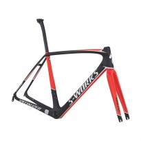 Specialized Bicycle SW Tarmac Frameset Sepeda - Carb/Rktred/Metwht 52 77017-0352