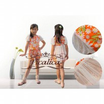 ~Cutevina~ Orange Floral Girl Clothes / Setelan anak (FC0026)