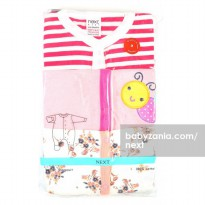 Next Sleepsuit Panjang 3 Pack 6 - 9M - Girl (Pink)