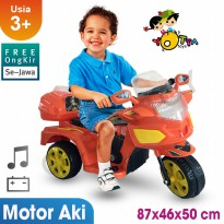 Free Ongkir Se-Jawa Ocean Toy Yotta Ride On Motor Aki Halilintar - Orange