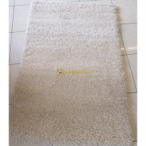 Karpet Bulu Tebal turkey - Shaggy 08720 (Krem)