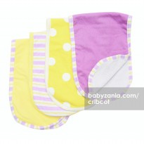 Cribcot Alas Pundak - Pattern Polka Yellow Purple Stripes