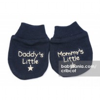 Cribcot Sarung Tangan Daddy's Mommy's Little - Navy Blue Beige