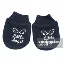 Cribcot Sarung Tangan Little Angel - Navy Blue Broke White