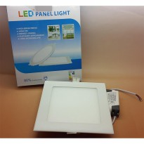Model KOTAK 12w MIYALUX LED Panel Light downlight PUTIH & WARM WHITE