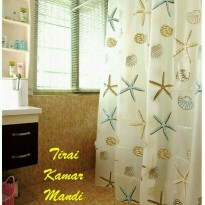 Tirai Kamar Mandi/  Shower Curtain Aneka Motif Anti Air