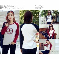 Bird logo casual tshirt (Blue,Red) - 20536