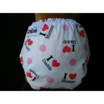 Popok Kain Anti Bocor Ompol / Clodi / Cloth Diaper Motif