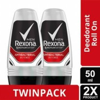 REXONA Men Roll On Antibact Defense 50 ml Twin Pack