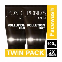 POND'S Men Pollution Out Face Wash 100 gr Twin Pack