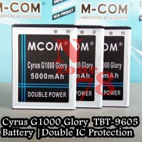 Baterai Cyrus Glory G1000 TBT9605 Double IC Protection
