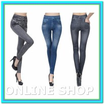 (Legging & Stocking) 1+1 SLIM N LIFT JEANS / JEANS FAT BURN / JEANS