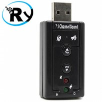 (Termurah) USB 2.0 to Virtual 7.1 Channel Audio Sound Card Adapter CM108 Chipset
