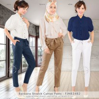JO & NIC Barbara Stretch Cotton Pants - Celana Baahan - Celana Kantor