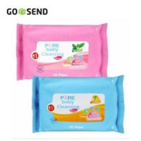 [1+1] PURE BABY CLEANSING WIPES LEMON / TEA OLIVE 20's