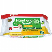 PIGEON BABY HAND AND MOUTH WET TISSUE ISI 20 SHEETS