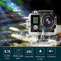 Action Camera WiFi 4K 20MP Ultra-HD Sports Dual Display Remote X-Lite